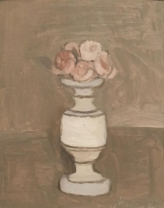 花卉,油画,1946