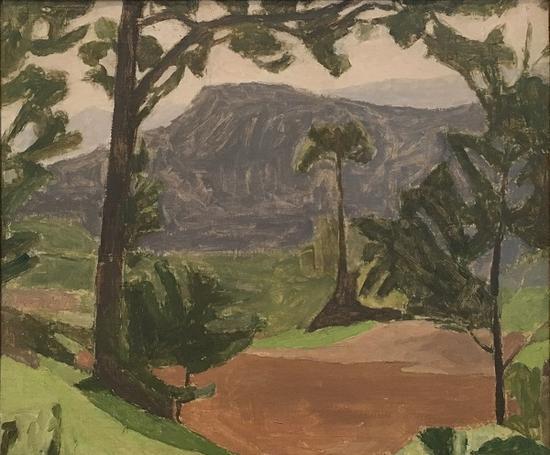 风景,油画,1935-1936