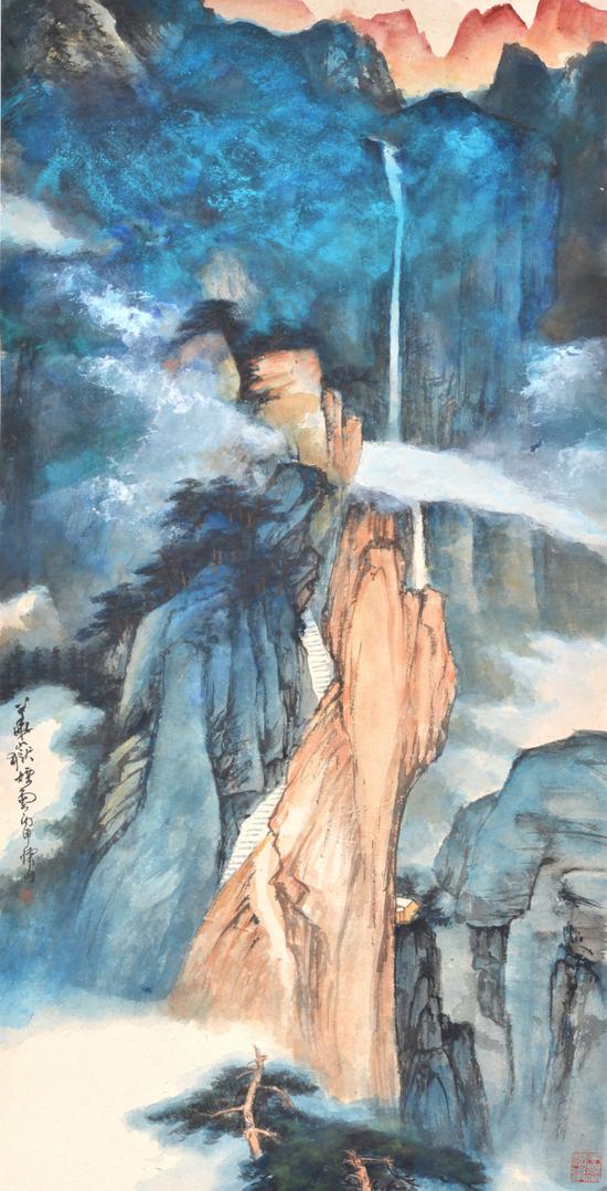 《华岳烟云》137x69cm