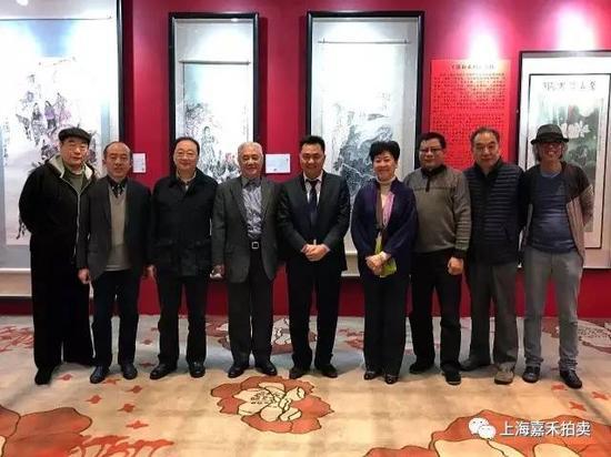 从右至左:韩宁宁、宋玉麟、吴超、刘蟾、魏辉、陆亨、谢定琨、万寿、程多多