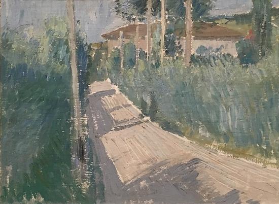 风景,油画,1913