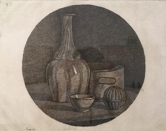 静物,版画,1946