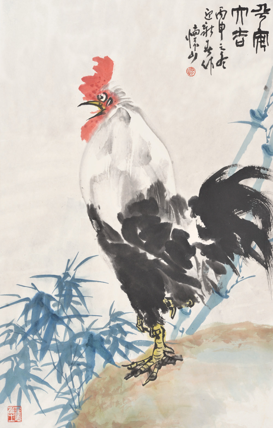 《平安大吉》 68x43cm2016年