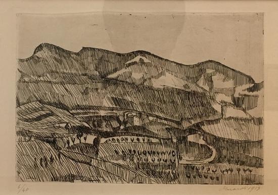 格里扎那风景,版画,1913