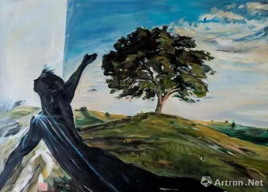 顾福生,再见,2001,油彩/画布,61x81cm