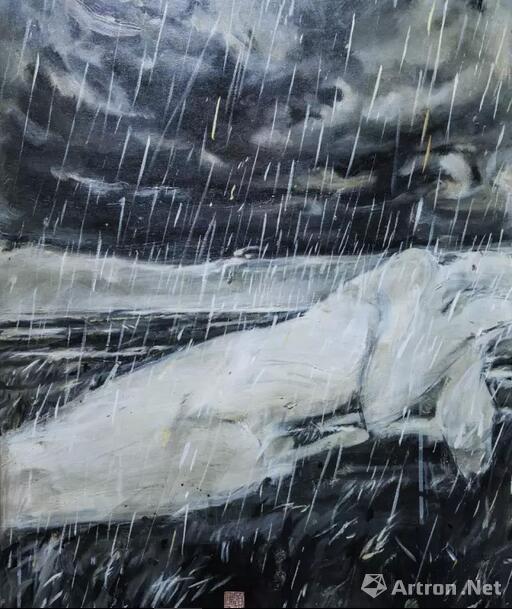顾福生,五月里的暴雨,2001,油彩/画布,81x61cm