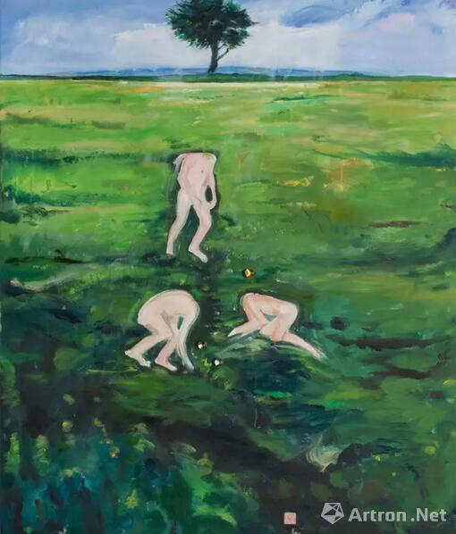 顾福生,弹戏,1994,油彩/画布,126x96cm(白先勇收藏)