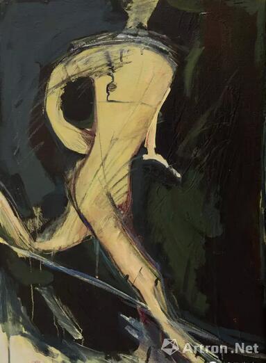 顾福生,夜奔者,1964,油彩/画布,76x53cm