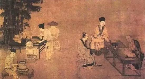 南宋 刘松年《撵茶图》