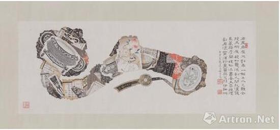 郑佐宸,《如意》,1950,纸本横幅,现藏于波士顿美术馆。图片:波士顿美术馆