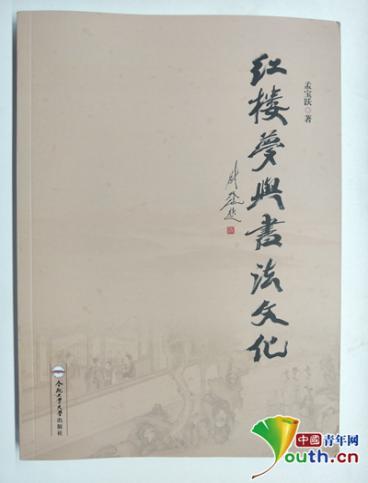 图为《红楼梦与书法文化》一书。中国青年网见习记者 李华锡 摄