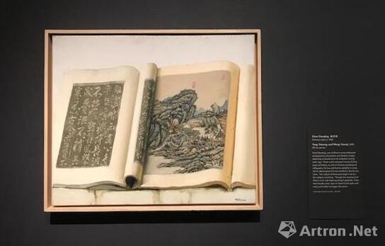 陈丹青,《唐太宗和王原祁》,2005,油画。图片:波士顿美术馆