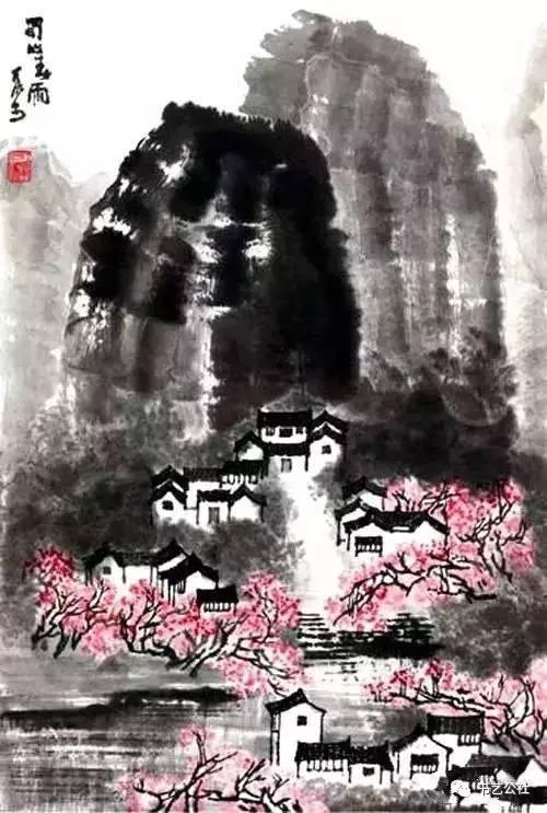 马化腾收藏的李可染作品《蜀山春雨》