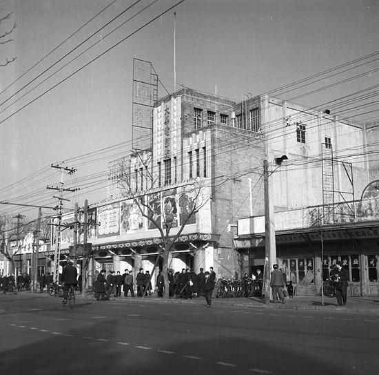 1961年的大华电影院。北京城市规划设计研究院的历史档案图片