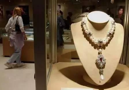 古董钻石珍珠项链