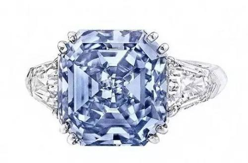 深蓝彩钻戒指