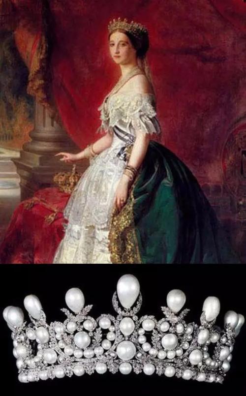 Eugénie王后的钻石珍珠皇冠