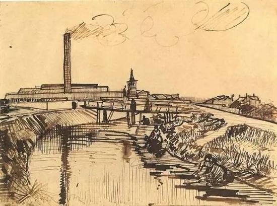 运河桥和洗衣的妇女
