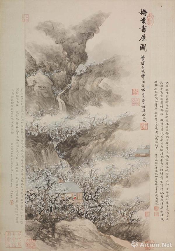 ▲吴湖帆《梅景书屋图》己巳(1929年)