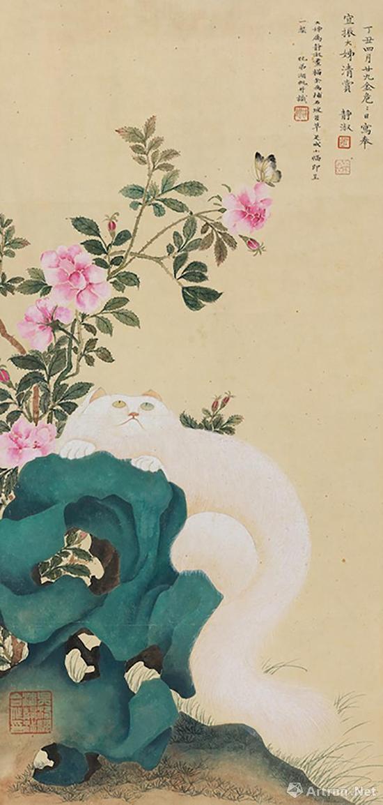 ▲潘静淑 吴湖帆,《 耄耋图》, 丁丑(1937)