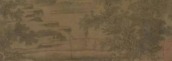 郭溪《谿山秋霁图》局部,现藏于美国弗利尔美术馆