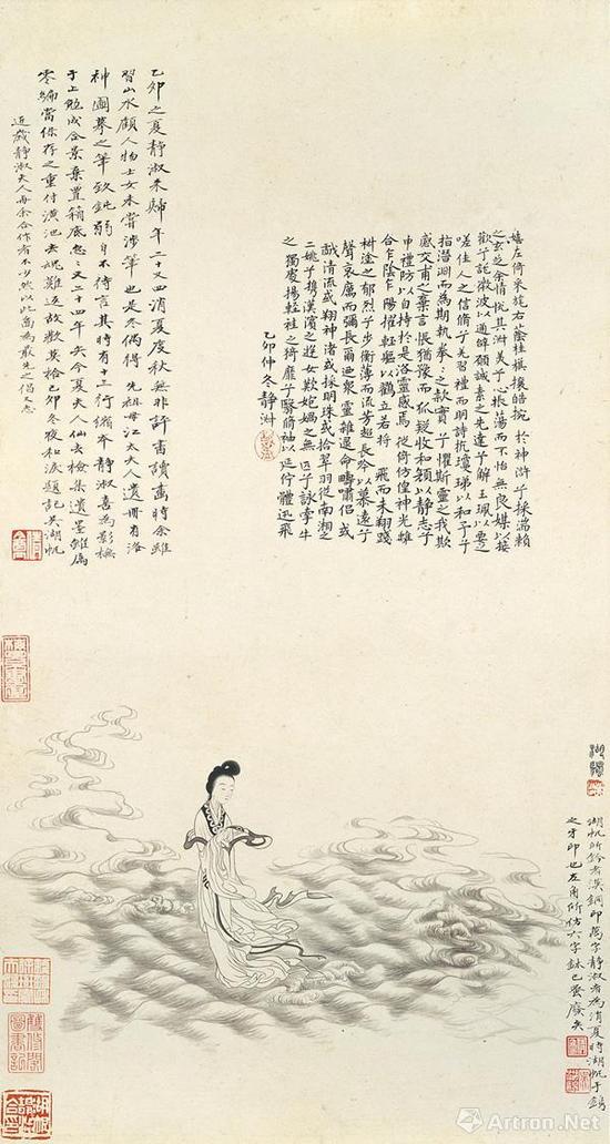 ▲吴湖帆、潘静淑 洛神图 乙卯(1915)