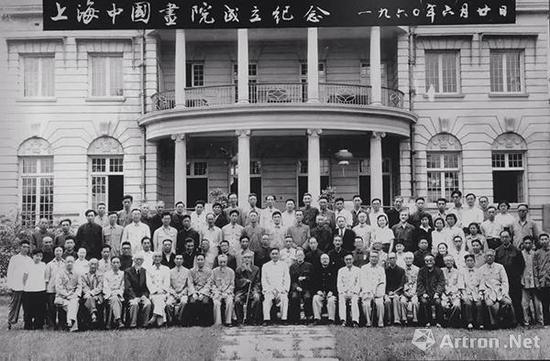 ▲1960年上海中国画院正式成立 第一排右四为吴湖帆