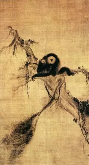 牧溪《松猿图》