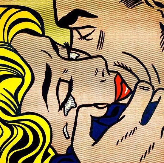 罗伊?里奇特斯坦,《吻 V》,1964年,Collection Simonyi,? Estate of Roy Lichtenstein。图片:Eduardo Calderon