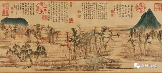 元赵孟頫《鹊华秋色图》局部