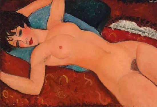 侧卧的裸女