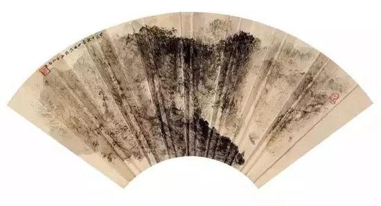 峡江轮船图,1964年,34.1×45.8cm