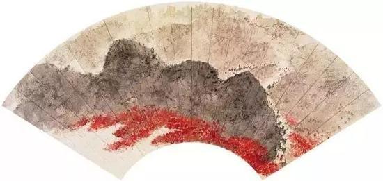 毛泽东《忆秦娥·娄山关》词意,20×53.8cm