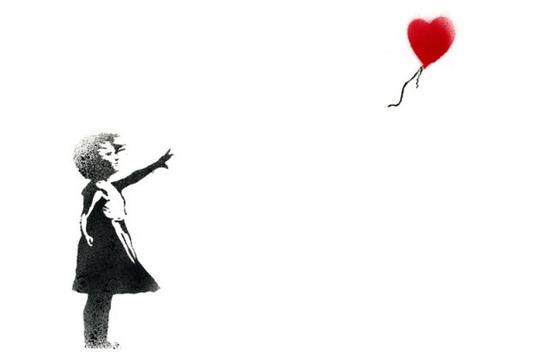英国街头艺术家 Banksy 作品 Balloon Girl
