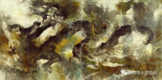 龙(2016)墨,丙烯,宣纸,布面 137 x 274cm
