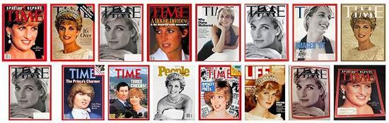 杂志封面上的黛安娜