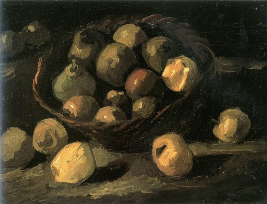 梵高《静物》,1889年作。