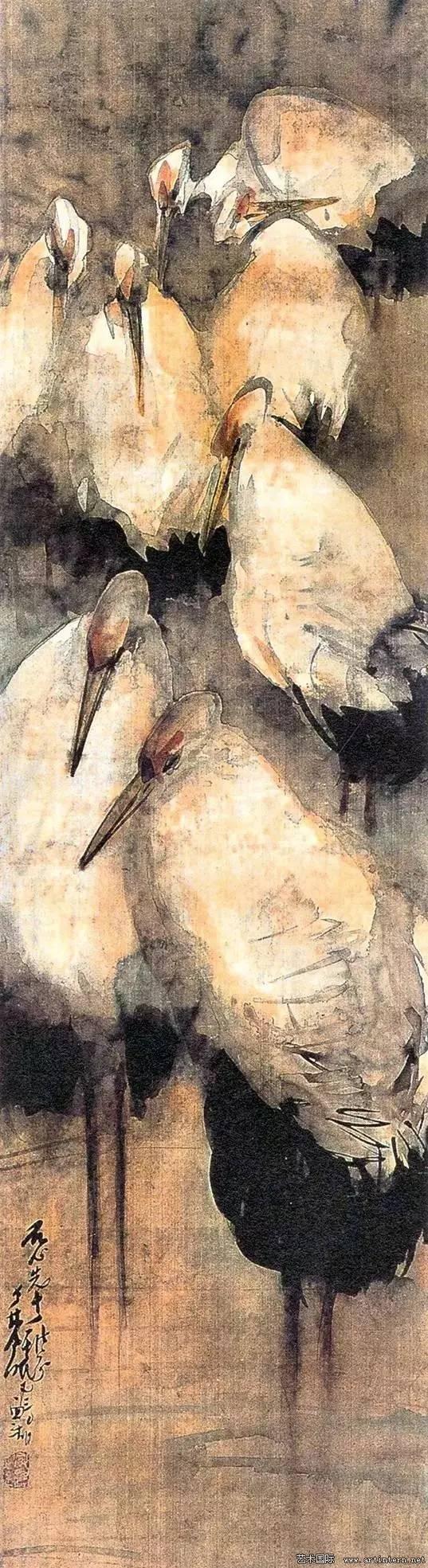 林风眠 《白鹭》150cm×39.5cm绢本水墨1930年