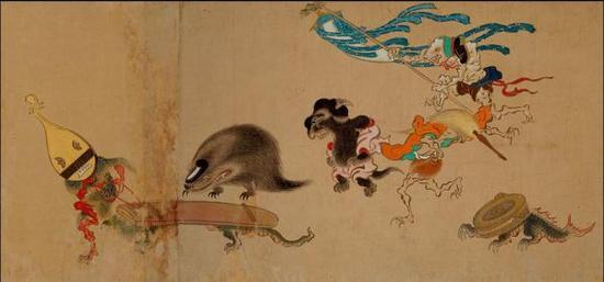 百鬼夜行图卷(局部),伝土佐光信,室町时代(16世纪),京都真珠庵藏