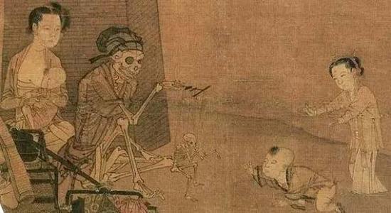 宋 李嵩《傀儡幻戏图》(局部)