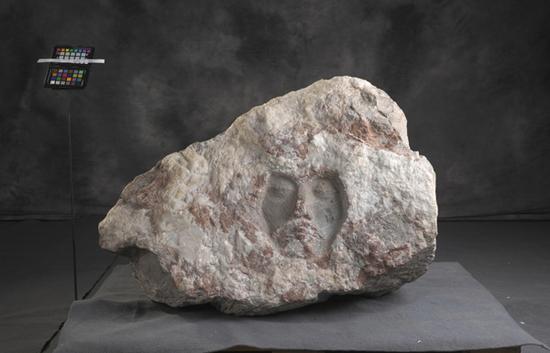 白山魂 贺中令 1984年 石雕  65×101×68.5cm 中国美术馆藏