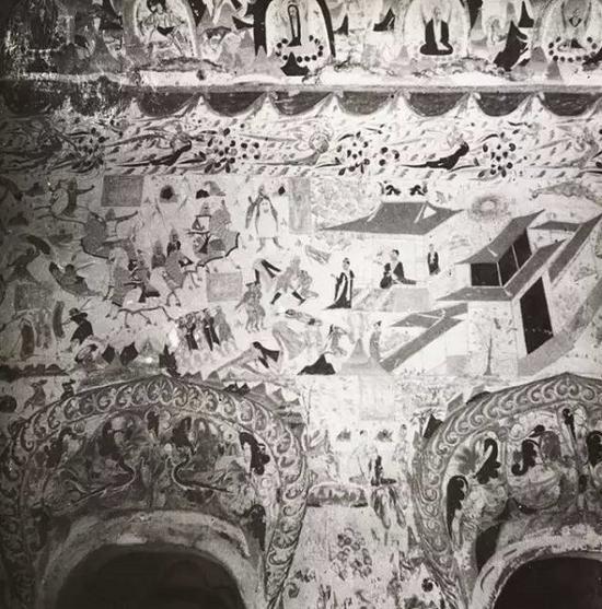 285窟壁画描述骑兵战斗的景象