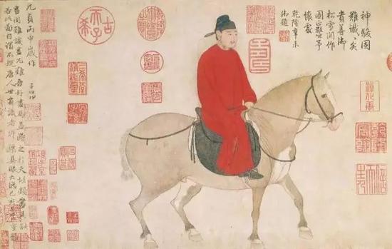 元 赵孟�\ 人骑图 故宫博物院藏