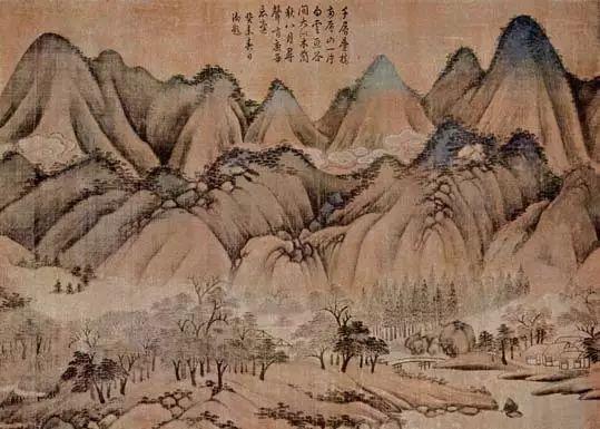 (传)元 高克恭 青山白云(局部)台北故宫博物院藏
