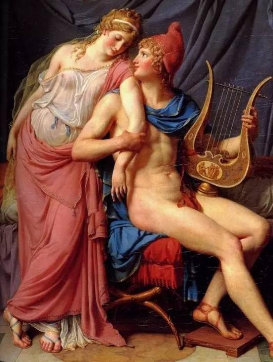 大卫《海伦与帕里斯的爱情》(局部)