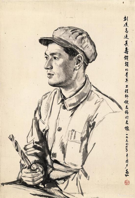 倪志福像 80×55cm 1964年
