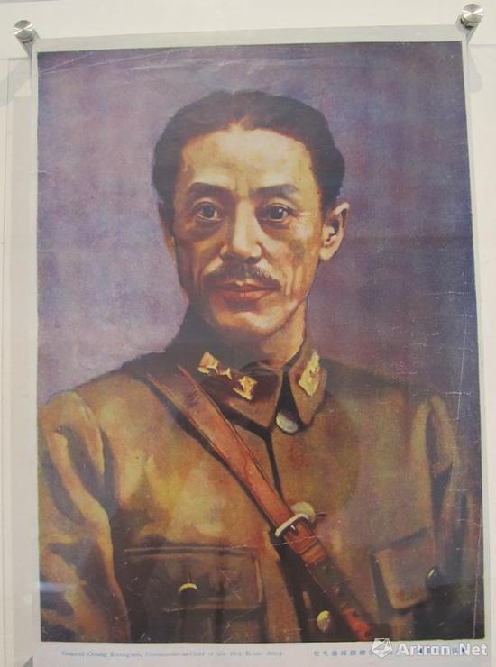 1932年,蒋兆和为抗日将军蒋光鼐绘油画像