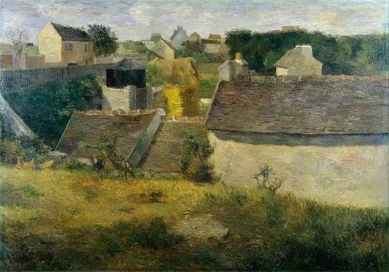 保罗·高更,《Vaugirard的房子》,1880布面油画81.5 × 116 cm现藏于以色列博物馆