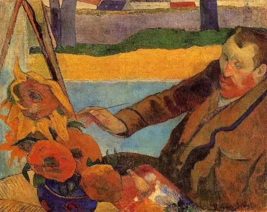 保罗·高更,《梵高在画向日葵》,1888年布面油画91 x 73 cm现藏于梵高美术馆