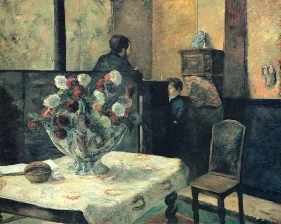 保罗·高更,《Rue Carcel的内部》,1881布面油画130 × 162 cm现藏于挪威国家美术馆